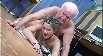 The old boss fucks the young secretary