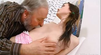 Old Goes Young - Jenya loves getting fucked by nasty old man