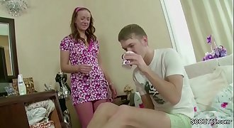 Bro Tempt Petite Step-Sister to Fuck her Anal invasion with Trick